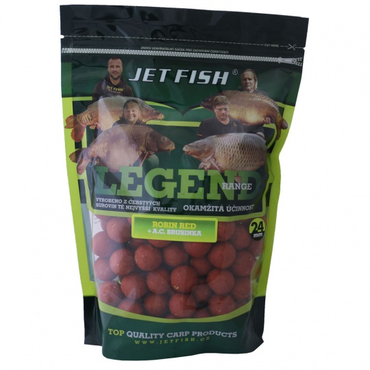 Jet fish Legend Range boilie 900g-16mm Robin Red_Brusinka