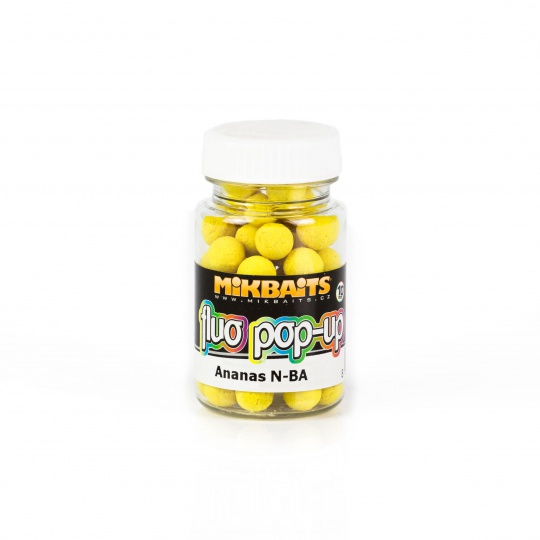Mikbaits Fluo pop-up Boilie 60ml 10mm Ananas