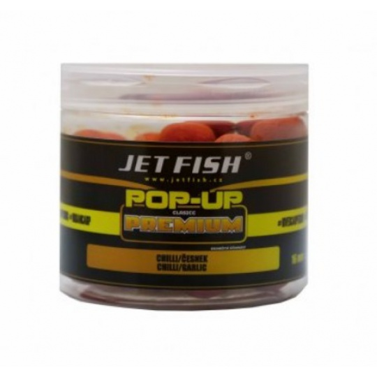 Jet FIsh Premium Classic Boilie Pop-up 16mm - CHILLI/ČESNEK